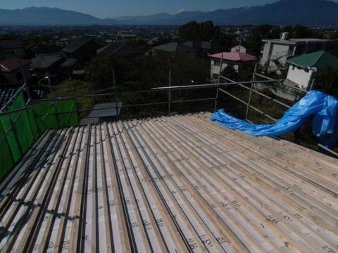 長尺の屋根